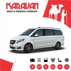 Mercedes Benz V-class / / Minivans class car hire Baku